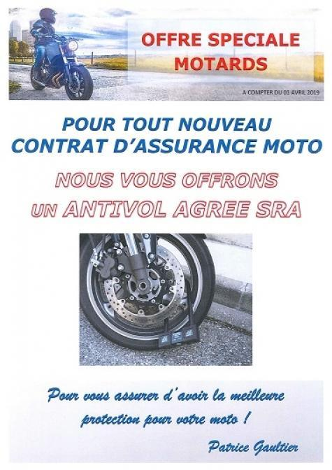 OFFRE SPECIALE MOTARDS